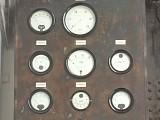 Restaurierter Instrumentenschrank im Kesselraum