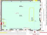 Maschinenhalle ca. 450 qm, Höhe ca. 10,5 m, Übersichtsplan, alle Angaben sind ca-Werte!